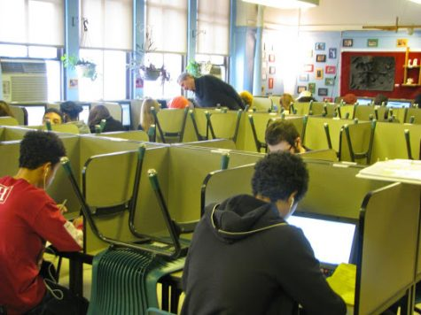Silent Commons, Room 405. Here, students come to complete their work without any distractions in the quiet environment.