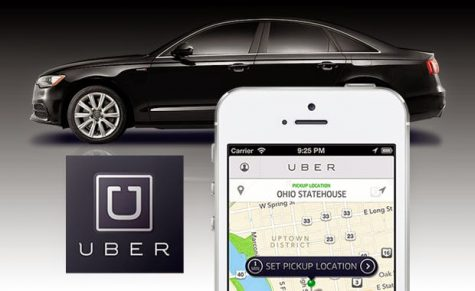Uber car service advertisement.
