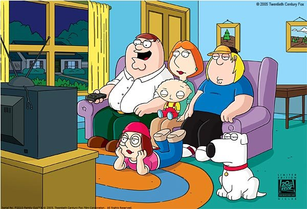 Peter, Lois, Meg, Stewie, Chris & Brian Griffin are the focal point behind the pure gold that is Family Guy!