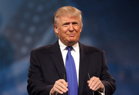 Donald J. Trump, the current President Of The United States speaking before the nation.