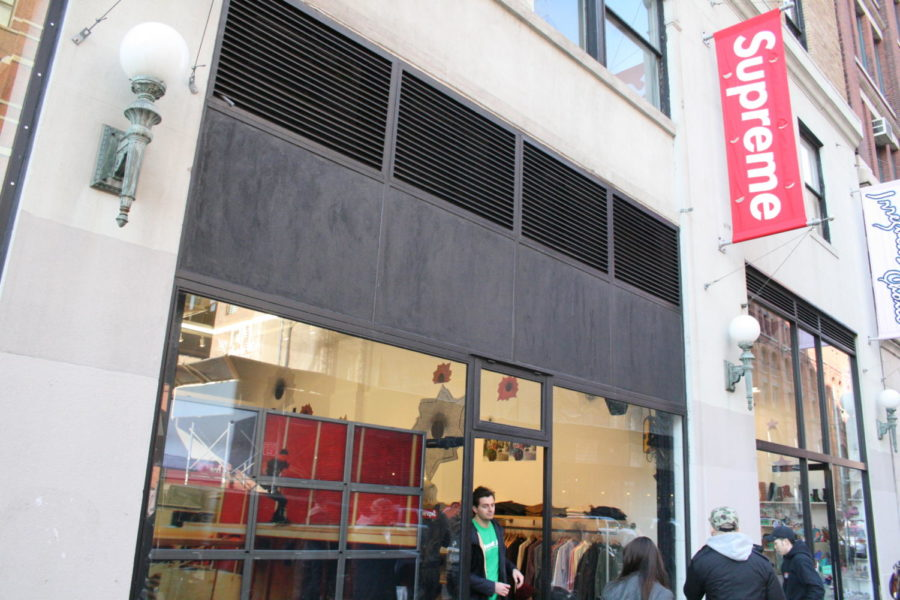 This is the front of the SoHo Supreme store.