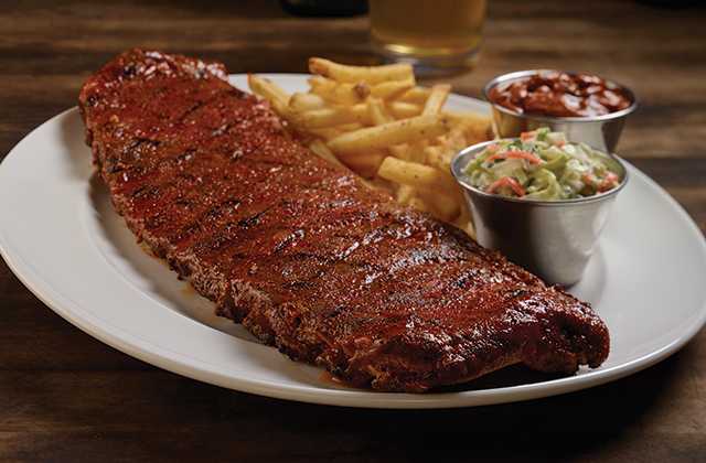 The ribs and fries is a common dish at the Hard Rock Cafe.