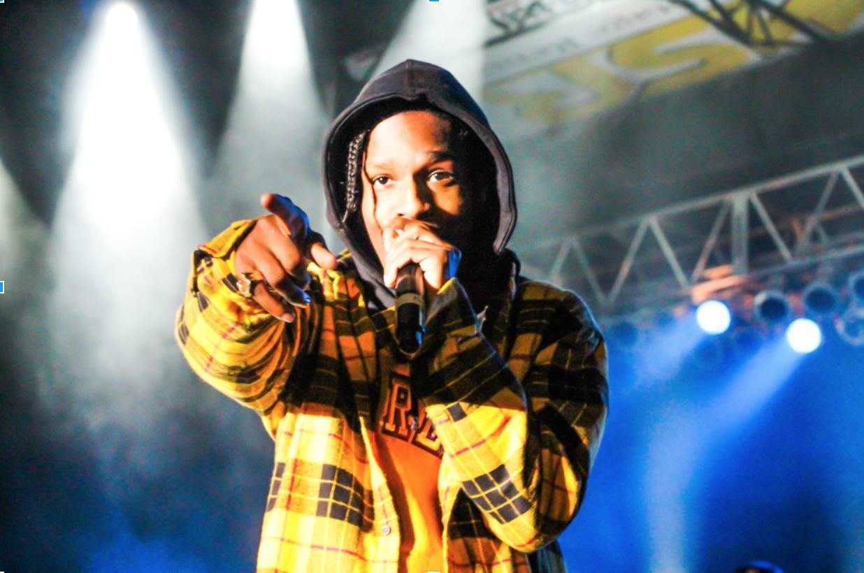 A$AP Rocky spitting fire bars.