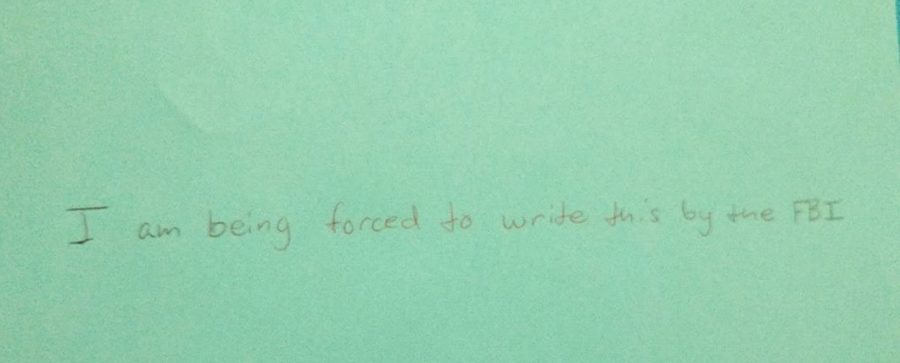 This is an example of a student's handwriting