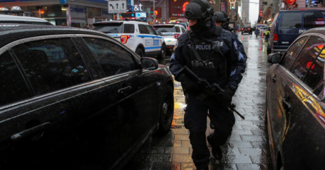 NYPD CRC patrolling in Time Square