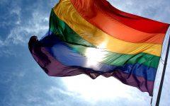 The LGBTQ+ pride flag