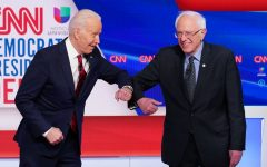 The current candidates still in the race shown above on Jan. 14th, 2020 at Des Moines, Iowa. Former Vice President Joe Biden (left) and Sen. Bernie Sanders of Vermont (Right)
