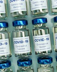 Vials of the new vaccine that protects against COVID-19