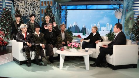 BTS on the Ellen Degeneres Show. Ellen spent half the interview asking how the leader, RM, learned English, and then asked if they ever had intercourse with fans using a English-based term that they did not know.