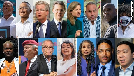 The NYC Mayoral candidates (Courtesy: CNN)
